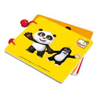 Bino Krtek a Panda, dřevěná knížka barevná