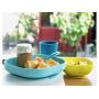 Jídelní sada z vysoce kvalitního silikonu obsahuje talíř, misku, kelímek a lžičku.