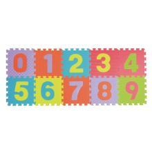 Teddies Pěnové puzzle čísla 0-9 podložka 25x25x1cm v sáčku, 10ks