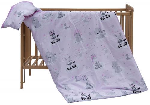 Scarlett povlečení do postýlky 2dílné - Zebra růžová 135x100 cm