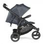 V ceně kočárku je stříška, nánožník, pláštěnka, madlo před dítě a prostorný nákupní košík.