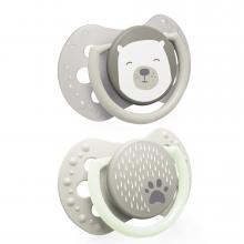 LOVI dudlík silikonový dynamický Buddy Bear 2ks 0-3m