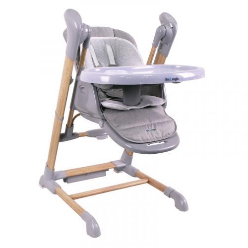 Jídelní židlička Bo Jungle B-SWINGING Chair Wood Grey