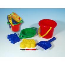 Lori Kbelík, sítko, lopatka, 2 bábovky plast v síťce 12m+