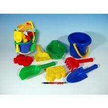 Lori Kbelík, sítko, lopatka, kupecká lopatka, hrabičky plast v síťce 20x28x12 cm, 12m+