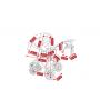 V ceně kočárku je: podvozek, hluboká korba, sportovní nástavba, nánožníky (na hlubokou korbu, na sportovní nástavbu), taška na rukojeť, pláštěnka a moskytiéra, nákupní košík + autosedačka Camarelo Carlo, adaptéry pro připevnění ke konstrukci kočárku. Kombinovaný dětský kočárek Camarelo Carmela 2017-2018 je bezpečný, prostorný, s moderním designem a bohatou výbavou.