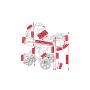 V ceně kočárku je: podvozek, hluboká korba, sportovní nástavba, nánožníky (na hlubokou korbu, na sportovní nástavbu), taška na rukojeť, držák na pití, pláštěnka, moskytiéra a nákupní košík. Kombinovaný dětský kočárek Camarelo Alicante je naprostou novinkou s odlehčenou hliníkovou konstrukcí a velmi bohatou výbavou.