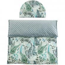 Esito Luxusní dětská deka s polštářem do kočárku MINKY 3 v 1 šedá
