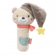 Fehn Bruno Pískací hračka do ruky medvěd