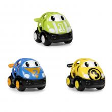 Oball Hračka autíčko závodní Herbie, Tom a Mike Go Grippers 3ks, 18m+