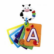 Baby Einstein Karty zábavně-vzdělávací textilní Take Along Discovery Cards™ písmena, 0m+