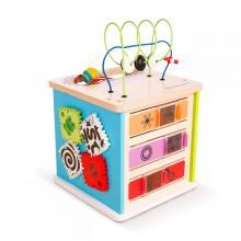 Baby Einstein Hračka dřevěná aktivní kostka Innovation Station HAPE, 12m+
