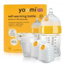 Yoomi 8oz Bottle/2 x Warmer/Teat/Pod - Y18B2W1P