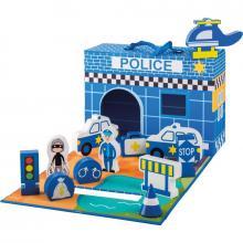 Jouéco policejní stanice v kufříku 13ks 18m+