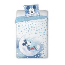 Faro povlečení do postýlky Mickey modrý 135x100 cm