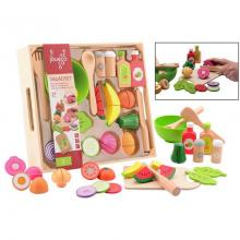Jouéco dřevěný salátový set s tácem 29ks 36m+