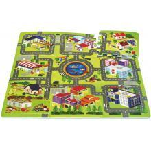 Wiky Pěnové puzzle Město 32x32 cm, 9 ks