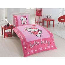 Matějovský Bavlněné povlečení do postýlky Hello Kitty Moulin Rouge 130x90 cm