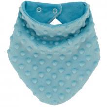 Esito Šátek na krk Minky podšitý bavlnou modrá