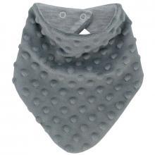 Esito Šátek na krk Minky podšitý bavlnou šedá