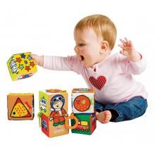 K´s Kids Zábavné textilní kostky (6 ks)