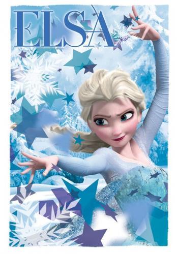 Euroswan fleece deka Ledové Království Elsa 100x150 cm