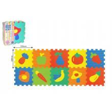 Wiky Pěnové puzzle Ovoce Zelenina 30x30 cm, 10 ks