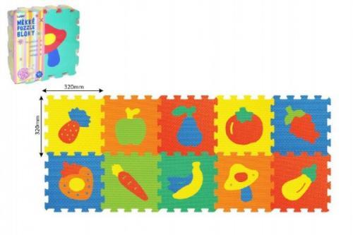 Wiky Pěnové puzzle Ovoce Zelenina 30x30 cm