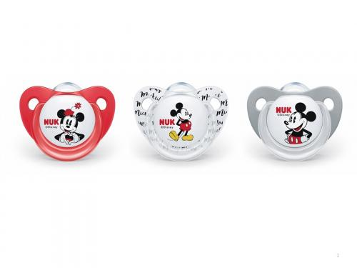 Nuk dudlík silikonový Trendline Mickey Mouse 0-6m, 1ks/box