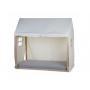 Textilní potah pro dřevěný rám postele Domek Natural 70x140. Dřevěný rám, rošt a matrace se prodávají samostatně.