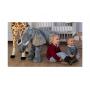 Stojící plyšový slon, 60 cm.