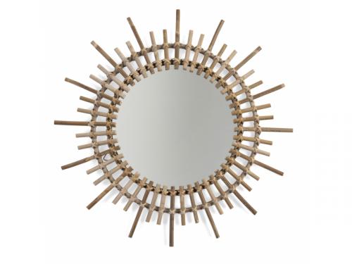 Childhome Zrcadlo ratanové kulaté 60cm