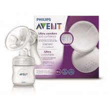 Philips Avent Odsávačka mateřského mléka Natural se zásobníkem 125 ml + vložky 60 ks