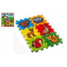 Teddies Pěnové puzzle Moje první lesní zvířátka 15x15x1,2 cm, 6 ks