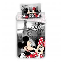 Jerry Fabrics Povlečení Mickey a Minnie v New Yorku 02 micro 140x200 cm