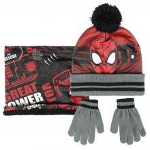 Cerdá Sada nákrčník, rukavice, čepice s bambulí - Spiderman