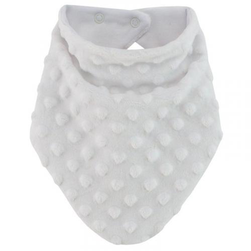 Esito Šátek na krk Minky podšitý bavlnou bílá