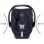 CYBEX ATON 5 - dětská autosedačka, kategorie 0+ (0-13 kg), od narození až do cca 18 měsíců. Jedinečné bezpečnostní prvky, jako například výškově nastavitelná opěrka hlavy s integrovaným vedením pásů, která ještě vylepšuje výjimečně bezpečnou energii absorbující skořepinu v kombinaci s crash testy odzkoušeným L.S.P. systémem a nové části zvyšující pohodlí, např. velká XXL sluneční stříška, dávají vzniknout dokonalé dětské autosedačce pro předčasně narozené a velmi malé novorozence.