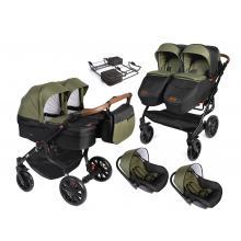 Kočárek DorJan Twin Quick + 2x autosedačka DorJan Quick + adaptér 2020