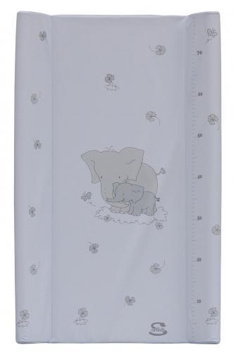 Scarlett přebalovací podložka s kapsou Slon 80 x 50 cm - bílá