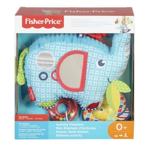 Mattel Fisher-Price Sloník s aktivitami v krabici
