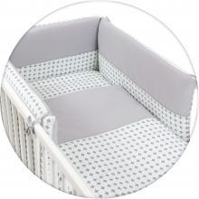 Ceba baby povlečení do postýlky 3dílné žerzej - Bílé puntíky 135x100 cm