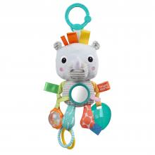 Bright Starts Hračka na C kroužku Playful Pals nosorožec 0m+