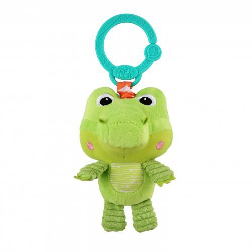 Bright Starts Hračka plyšová na C kroužku Take'n Shake krokodýl 0m+