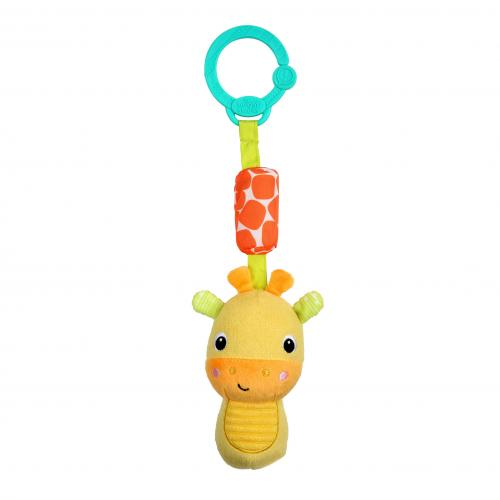Bright Starts Hračka plyšová chrastítko na C kroužku Chime Along Friends žirafa 0m+