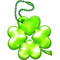Glimmis reflexní přívěsek čtyřlístek zelený