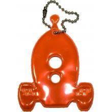 Glimmis reflexní přívěsek raketoplán oranžový