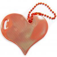 Glimmis reflexní přívěsek srdce červené