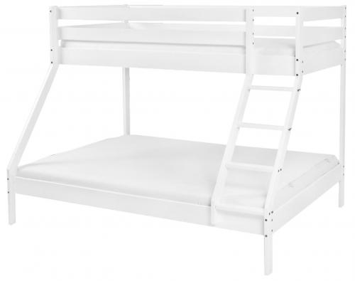 Scarlett Patrová dřevěná postel Monfi (buk) bílá - 140 x 200 cm / 90 x 200 cm