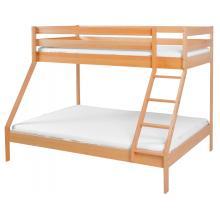 Scarlett Patrová dřevěná postel Monfi (buk) přírodní - 140 x 200 cm / 90 x 200 cm
